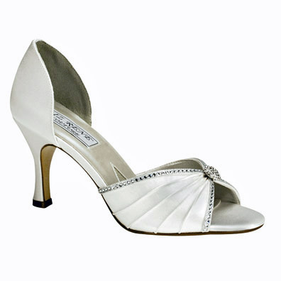 Addison Dyeable Low Heel Bridal Shoes