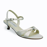 Andie Ivory Matte Satin Bridal Shoes