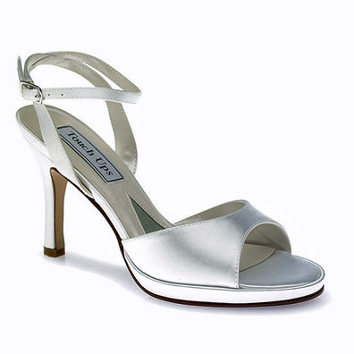 Angel Dyeable Satin High Heel Bridal Shoes