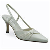 Donna Ivory Mid Heel Bridal Shoes