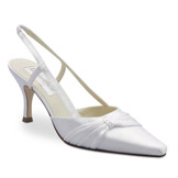 Donna White Mid Heel Bridal Shoes