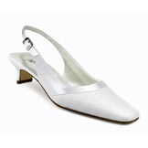 Gabriella Low Heel White Bridal Shoes