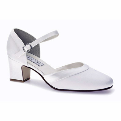 Ginger Dyeable White Low Heel Bridal Shoes