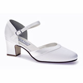 Ginger White Low Heel Bridal Shoes