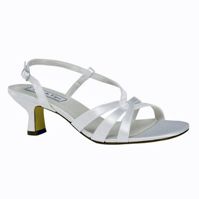 Hillary Dyeable White Low Heel Bridal Shoes