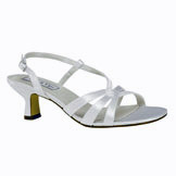 Hillary White Satin Low Heel Bridal Shoes