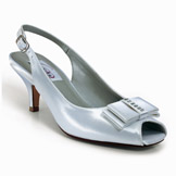 Shelly White Satin Bridal Shoes